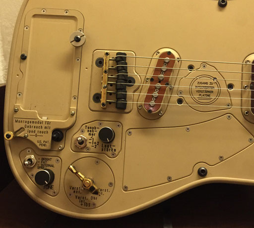 Chris Larsen M9 guitar, november 2014. One of a kind with German instructions.