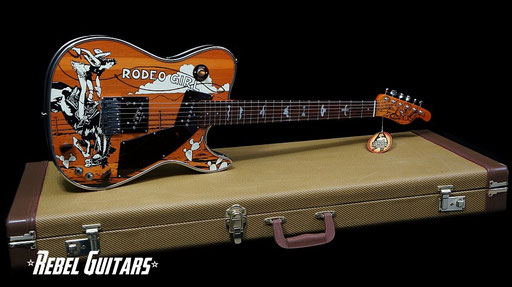 Pre-owned Girlbrand Rodeo Girl sold and beautifully photographed by rebel-guitars.com Click 2 enlarge