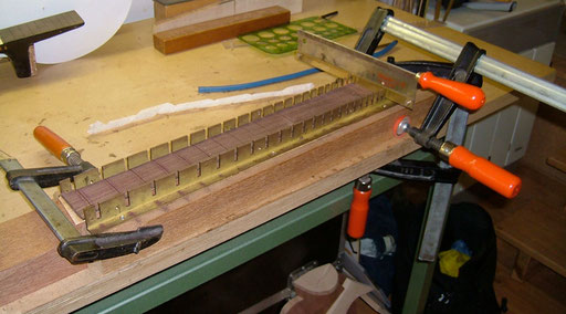 sawing the fret slots