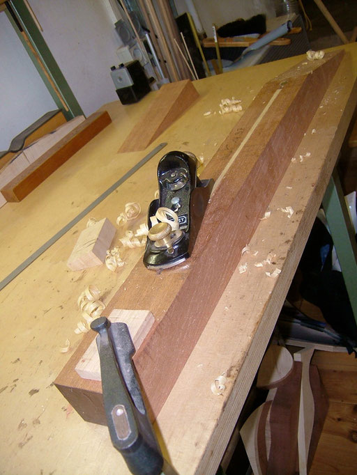 the truss rod has been installed and the channel has been closed again
