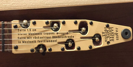 For the Holy Grail Guitar Show in Berlin, Chris even built a M9 guitar with German instructions. I`m proud to say that together with Michael Spalt I helped him to translate the inscriptions.