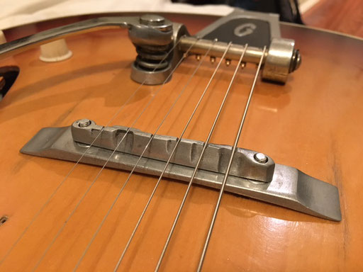 """The tremolo bar is amazing."" you can be glad that it is still around ...I wish I had mine. Not the first 425 that comes with this aluminum bridge. Others have a wooden bride."
