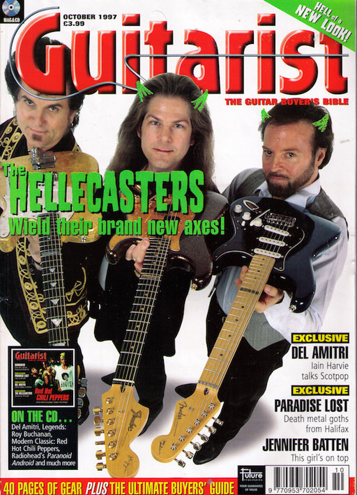 "I found this 1997 ""GUITARIST"" Magazine issue on ebay, that features an interview about these special ""Hellecasters"" guitars"