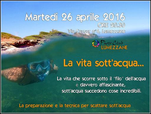 Martedi 26 aprile Photoclub Lumezzane
