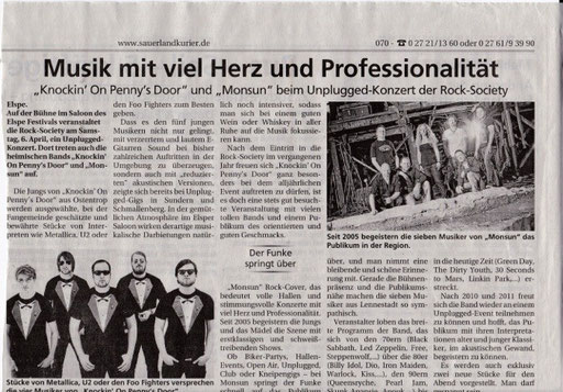 Sauerland Kurier vom 24.3.2013