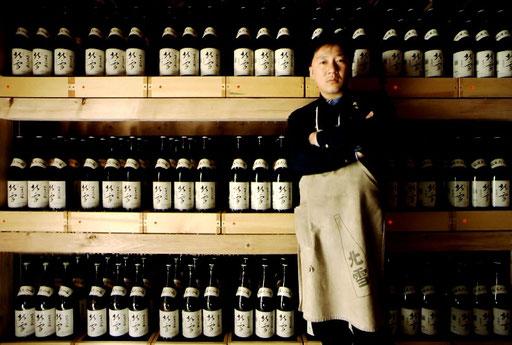 A sake brewer; Sado Island, Niigata, Japan.