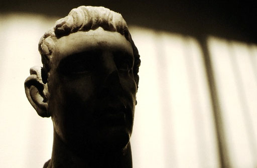 A marble bust; Greco-Roman Museum, Alexandria, Egypt.