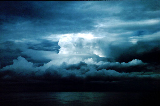 A thunderstorm over Idjwi Island; Lake Kivu, on the border between Rwanda and the DRC.