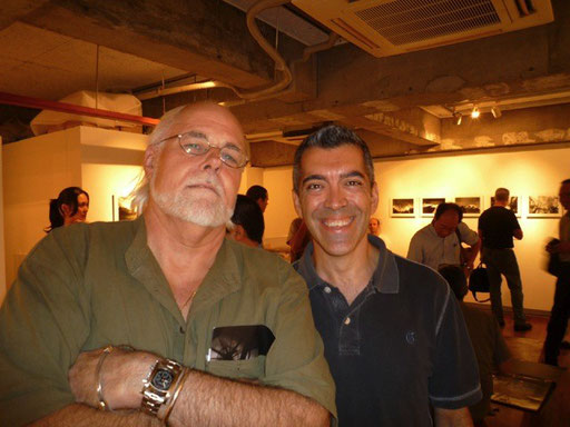 With Spanish photographer Cesar Ordonez at the Kotosaheku exhibition opening reception, HP France Gallery