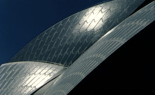 A detail of the Sydney Opera House.