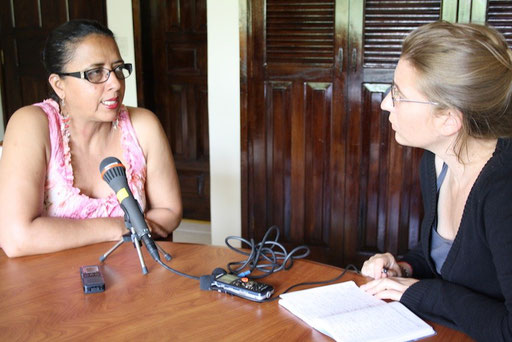 Interview with Dina Meza, Honduras © Andrea Lammers