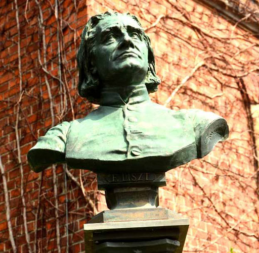 Eng mit Bayreuth verwurzelt: Der Komponist Franz Liszt/Bust of the composer Franz Liszt, who is closely linked to Bayreuth