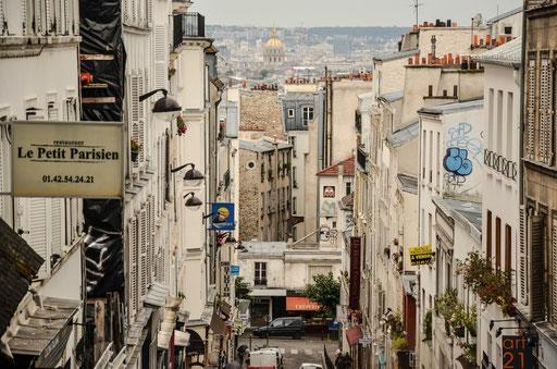 Versprüht trotzdem noch den alten Charme früherer Tage - das Künstlerviertel Montmatre