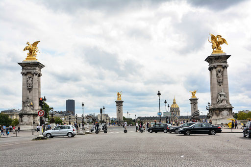Die Brücke wurde zwischen 1896 und 1900 zur Weltausstellung erbaut und gilt noch heute als schönste Brücke von Paris