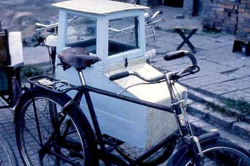 Fahrrad mit Beiwagen - Marke Eigenbau