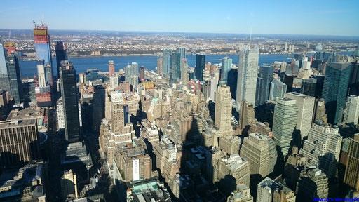 Blick auf Manhatten vom Rockefeller Center
