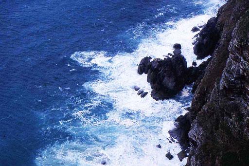 Blick hinunter zum Cape of good hope (Kap der guten Hoffnung)