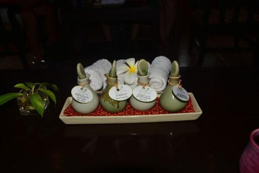 Die Zutaten für eine traditionelle thailändische Massage