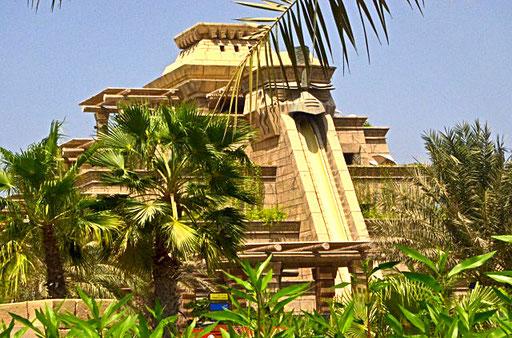 Azteken-Rutsche im Aquaventure Wasserpark