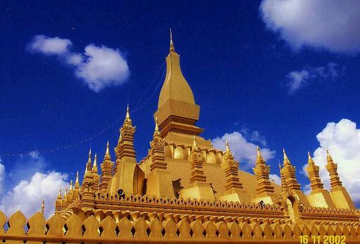 Tempel in Laos (Thailands nördlicher Nachbar)