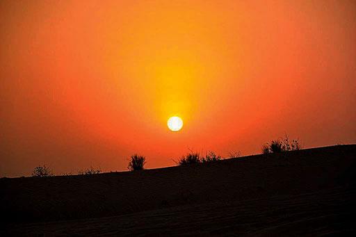 Es wird Nacht in der Wüste (Foto: Daniel Schlenk)
