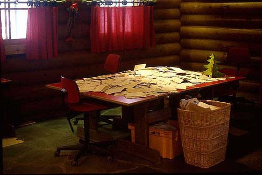 Der Schreibtisch des Nikolaus in Rovianemie