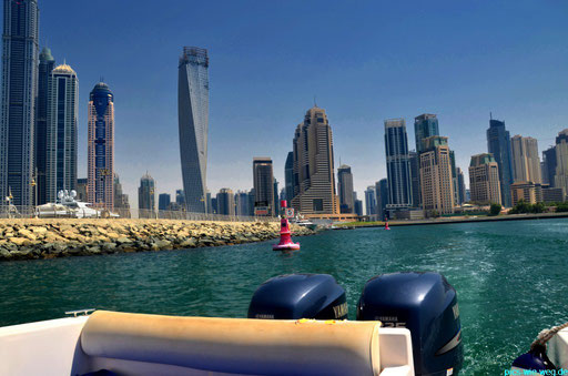 Blick auf die Dubai Marina