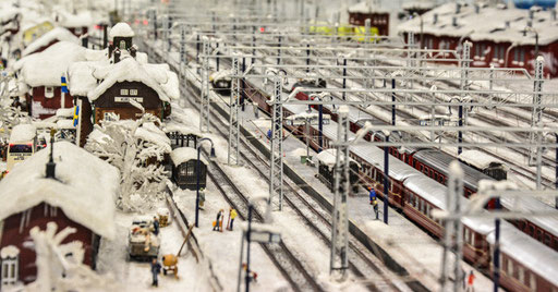 Der Bahnhof von Kiruna in Schweden? Nööööö, Hamburg Miniaturwunderland