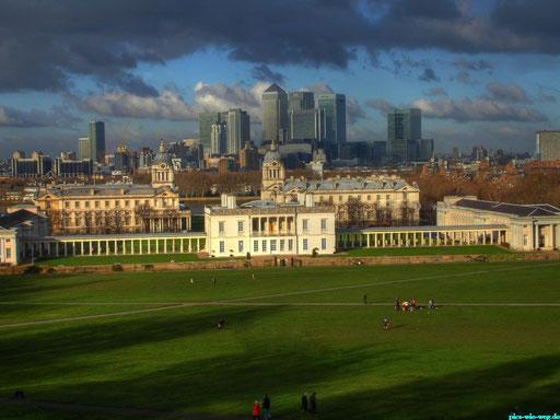 Blick vom Observatorium Greenwich