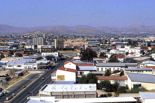 Blick auf die Hauptstadt Windhoek