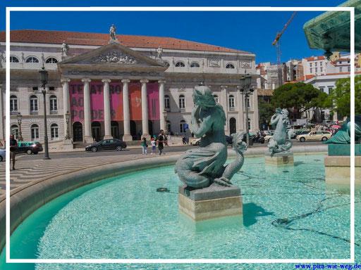 Am Praca Rossio dem Herz Lissabons