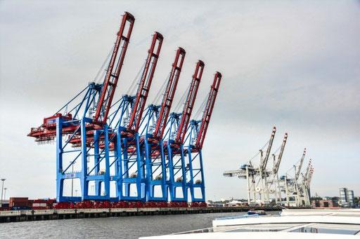 Im Containerhafen Hamburg