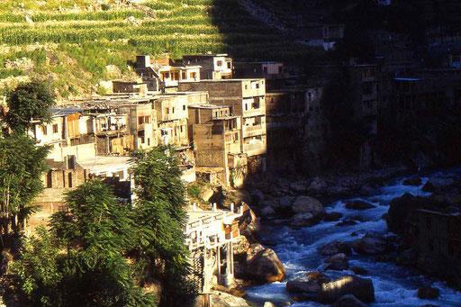 Siedlung im Hunza-Tal