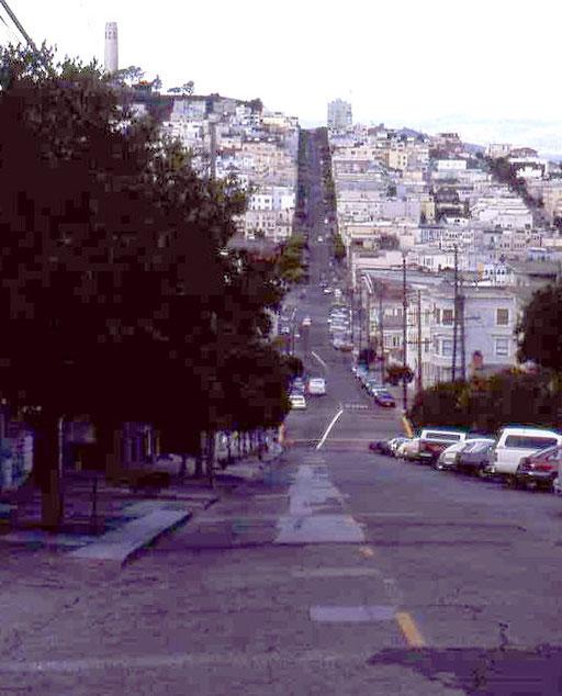 Die Straßen von San Francisco - ein ständiges auf und ab.