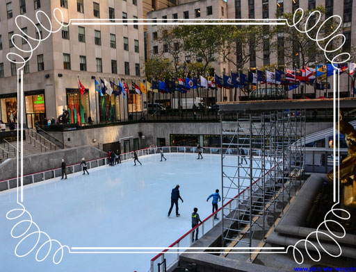 Ice Rink beim Rockefeller Center