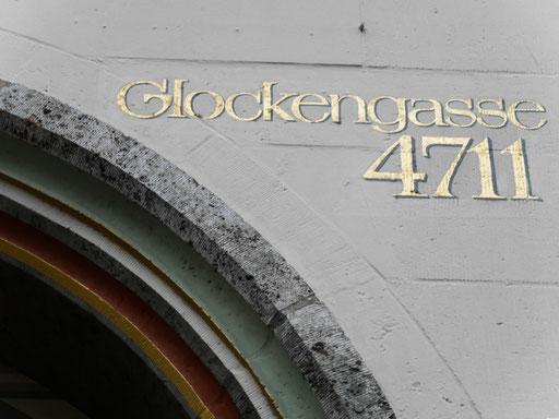 """Weltberühmt - die Glockengasse 4711  bzw.""""Echt Kölnisch Wasser"""""""