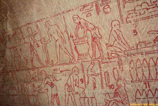Kopie einer ägyptischen Wandmalerei. Die alten Ägypter waren es wohl, die durch Zufall (weil sie eine Suppe kochen wollten) das Bier entdeckten - Danke Ägypten:)