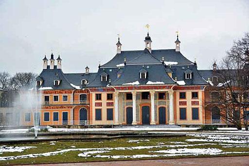 Park von Schloss Pillnitz bei Dresden