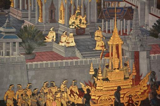 Wandschmuck im Wat Phra Kheo
