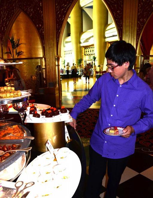 Leckereien vom Feinsten (Mittagsbuffet im Burj Al Arab)