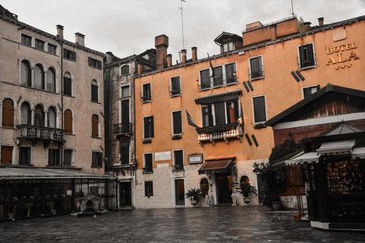 """Nicht weit von hier lag unser Appartement """"Pisani"""" - sehr zentral und nur etwa 15 Gehminuten zum Markusplatz"""
