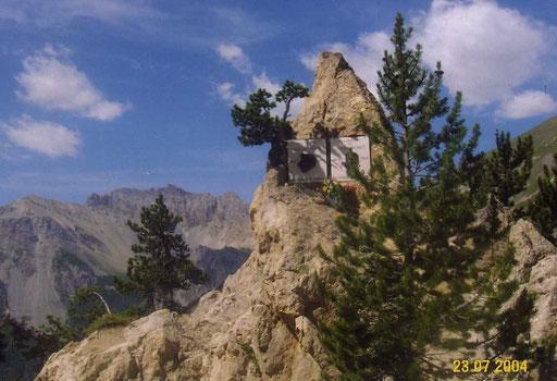 Denkmal für Fausto Coppi am Col d´Izoard