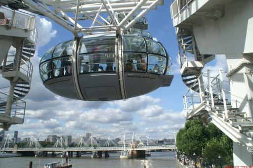 Kabine des London Eye (Riesenrad)