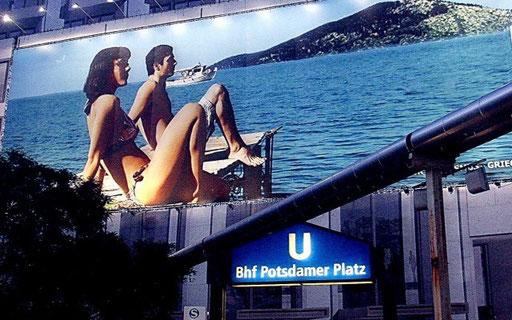 Meer in Berlin? Nein - nur Kulisse am Potsdamer Platz