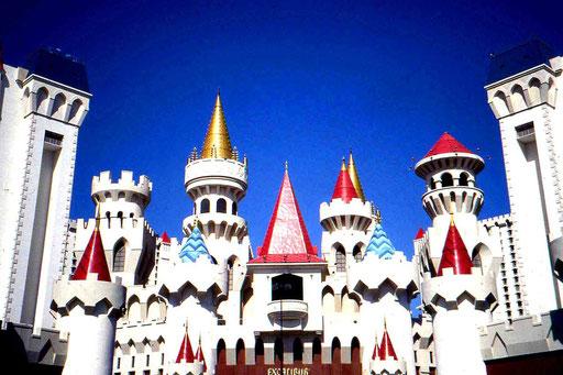 Hotel Excalibur in Las Vegas - so kitschig, dass es fast schon wieder schön ist
