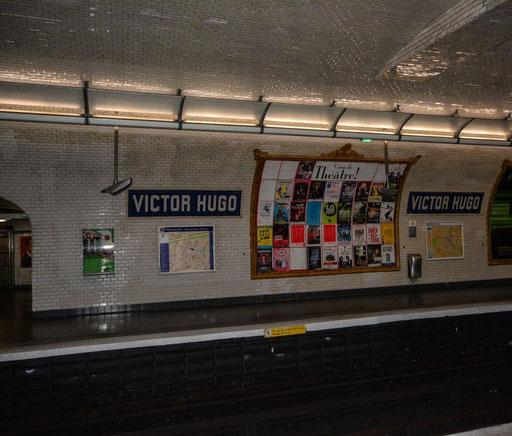 Metrofahren in Paris - Hier die Station Victor Hugo (liegt auf der Linie 2)