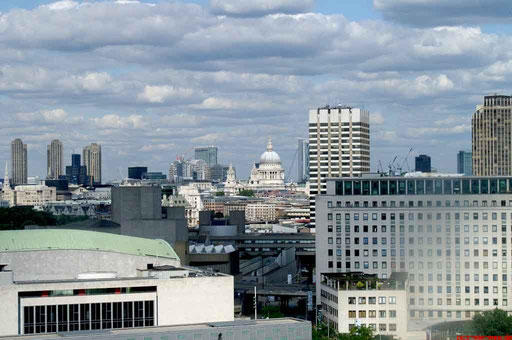 Ausblick vom London Eye mit der St. Pauls Cathedral im Hintergrund