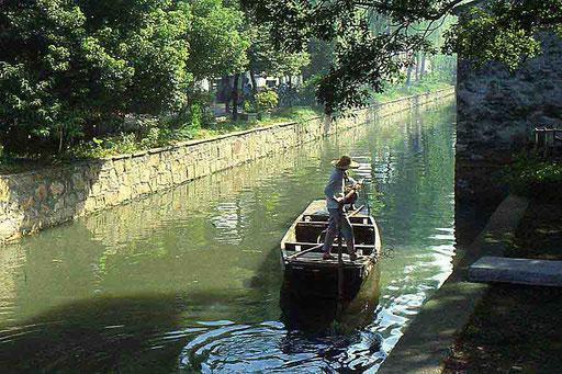 Szene auf dem Kaiserkanal