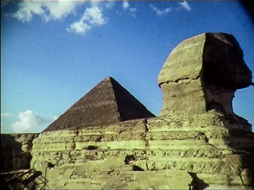 Cheops-Pyramide und Sphinx (Screenshot aus einem 30 Jahre alten Super-8-Film)