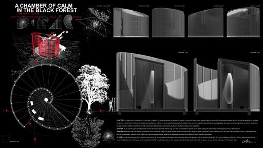 Bild: A CHAMBER OF CALM IN THE BLACK FOREST; RAUM DER STILLE; BAUM DES LEBENS von LePaien_Architecture, Architektur, Städtebau, Entwurf
